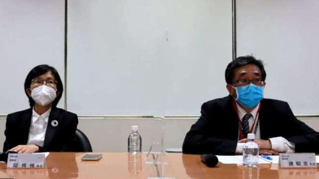 左為東元董事長邱純枝、右為總經理連昭志。(擷取自東元直播)
