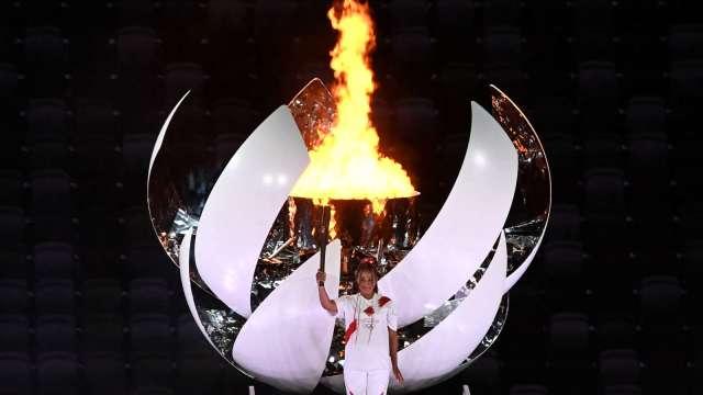 日本女網好手大阪直美任東奧開幕式火炬手。(圖片:AFP)