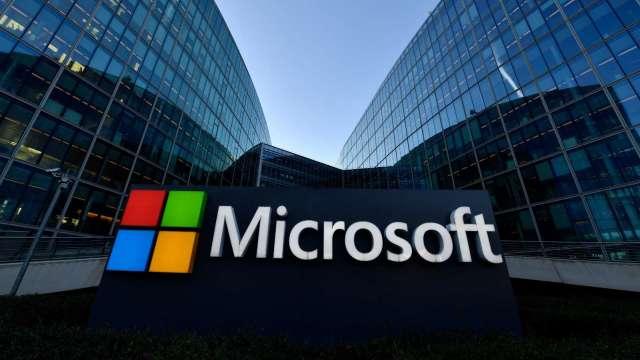 〈財報〉微軟Q4獲利大增 Q1財測樂觀 抵銷設備廠Windows授權營收下滑衝擊 (圖片:AFP)