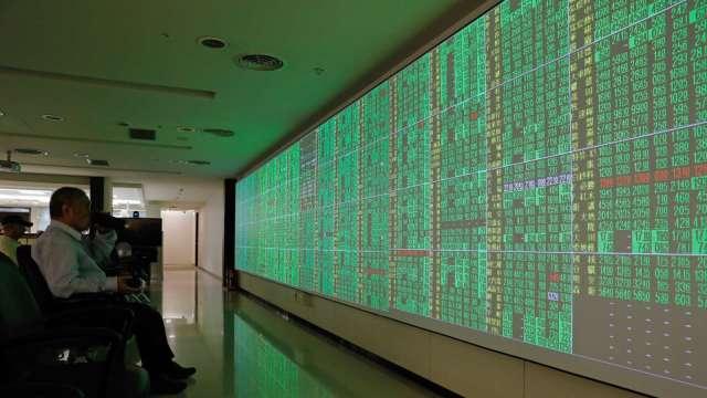 〈台股盤中〉電金傳權值股一面倒 摜破萬七失守季線。(圖:AFP)