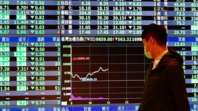 台股險守萬七 外資狂殺220億元 三大法人聯手賣超238.89億元。(圖:AFP)