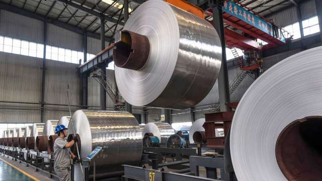 中國新增23項鋼鐵產品取消出口退稅優惠(圖片:AFP)