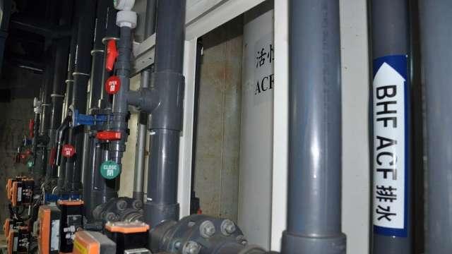群創製程水回收率達96.2%,南科廠本月啟用再生水。(圖:群創提供)