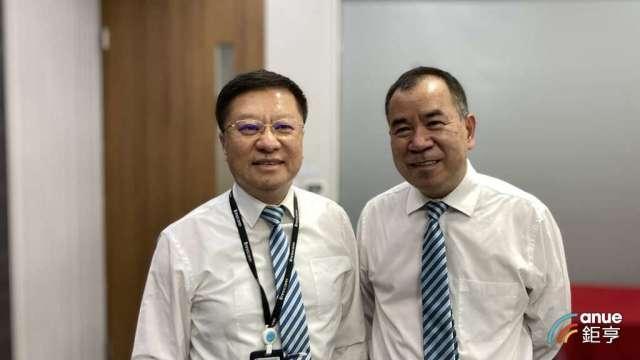 樺漢董事長朱復銓(左)及總經理蔡能吉。(鉅亨網記者彭昱文攝)