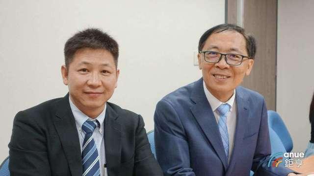 牧德總經理陳復生(左)及董事長汪光夏。(鉅亨網記者總務長欽發攝)
