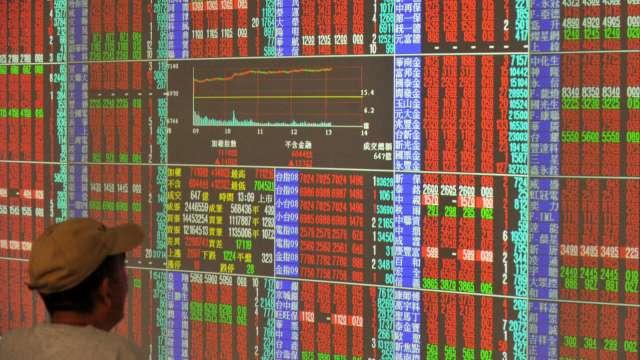 台股價漲量縮站回17600點 投信與外資對作 三大法人買超96.5億元。(圖:AFP)