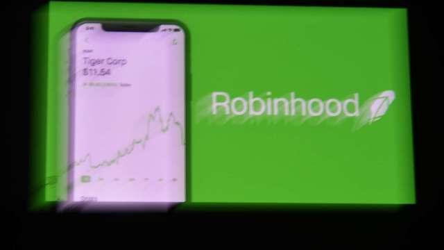 前一日暴漲熔斷後 Robinhood股價狂瀉。(圖片:AFP)