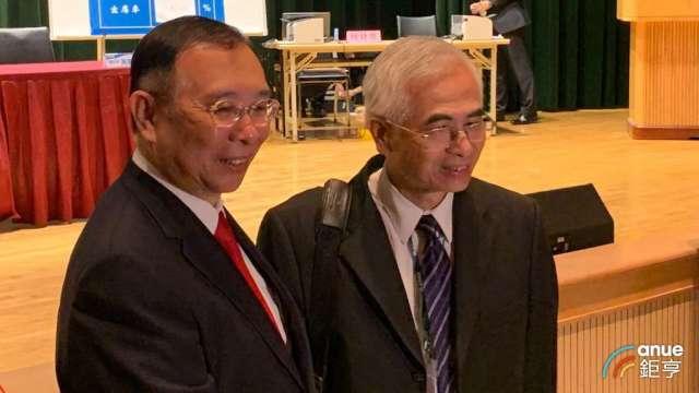左起為台鋼集團會長謝裕民及友訊董事長李中旺。(鉅亨網資料照)