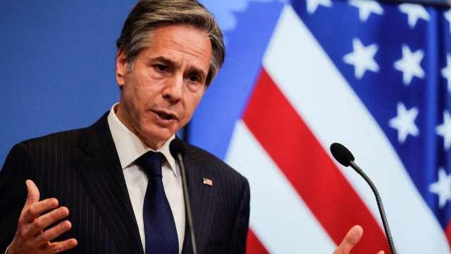 美國務卿:基建法案對與中國競爭至關重要。(圖片:AFP)