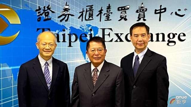 左至右為杏國總經理蘇慕寰、集團董事長李志文、杏輝總經理白友烺。(鉅亨網資料照)