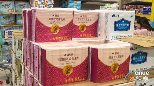 衛生紙一個月飆36% 兩大因素影響後市價格欲小不易。(鉅亨網資料照)
