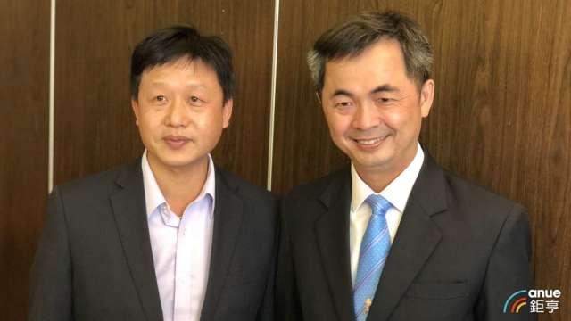 左至右為家登副董林添瑞、董事長邱銘乾。(鉅亨網資料照)