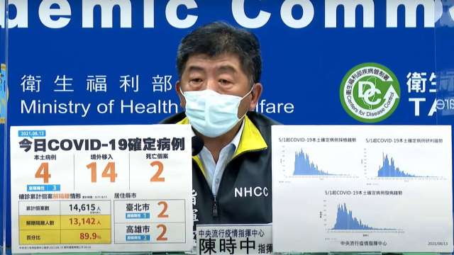台灣接種涵蓋率突破38% 陳時中:近期還有疫苗到貨。(圖:取自疾管署直播)