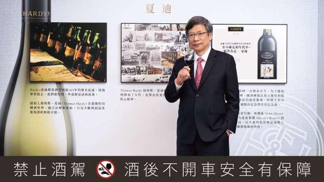 黑松攜手譽加集團搶攻台灣葡萄酒市場。圖為黑松董事長張斌堂。(圖:黑松提供)