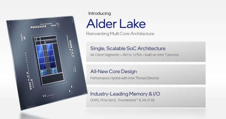 英特爾架構日揭曉了 Alder Lake 第 12 代 Core 處理器架構 (圖片:英特爾)