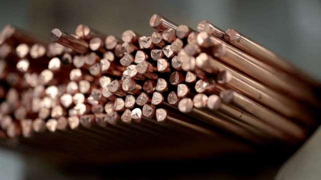 銅價摔至每磅4美元 經濟成長岌岌可危 (圖片:AFP)