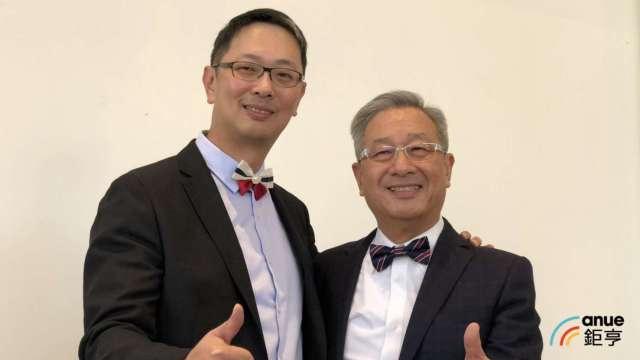 左為廣運太極總經理謝明凱、右為董事長謝清福。(鉅亨網資料照)