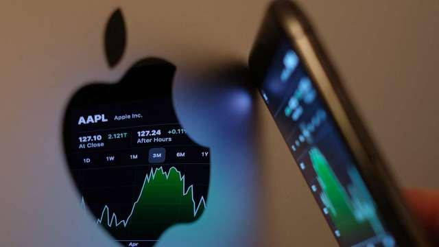 蘋果iPhone衛星通訊計畫遭質疑 衛星類股漲幅回吐(圖片:AFP)
