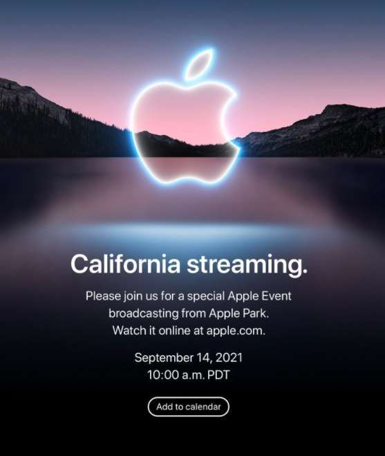 蘋果 2021 年秋季發表會邀請函已正式寄出 (圖片:蘋果)