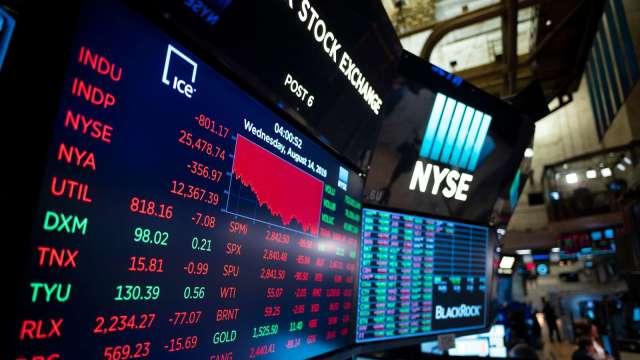 〈美股早盤〉市場關注疫情與經濟前景 美股小跌、道瓊開低翻紅 (圖:AFP)