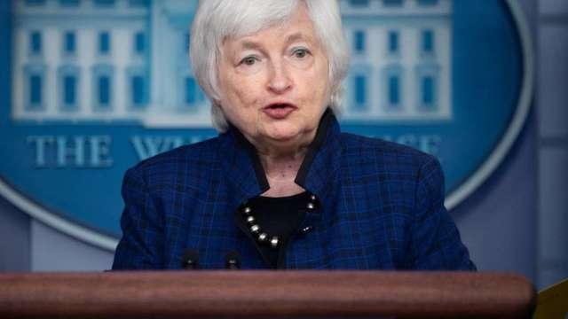 葉倫:舉債上限問題不能再拖 否則10月恐現金用盡(圖:AFP)