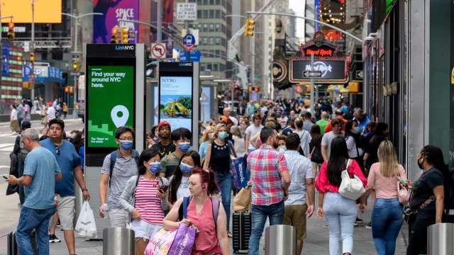Delta變種病毒持續肆虐 美國企業轉為悲觀(圖片:AFP)