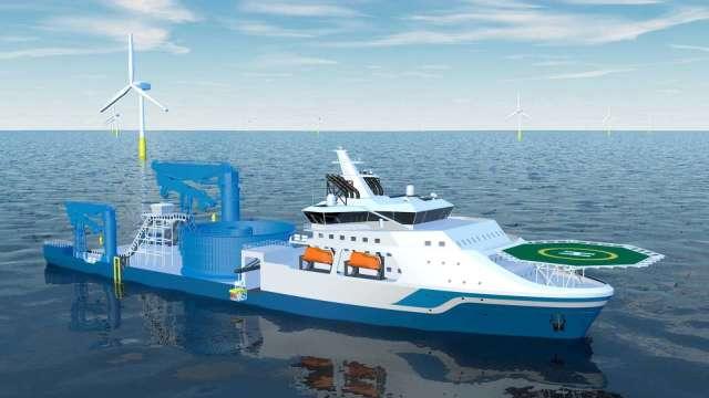 由前台船總經理領軍 海天離岸工程將投資建造大型鋪纜船 。(圖:海天離岸工程提供)
