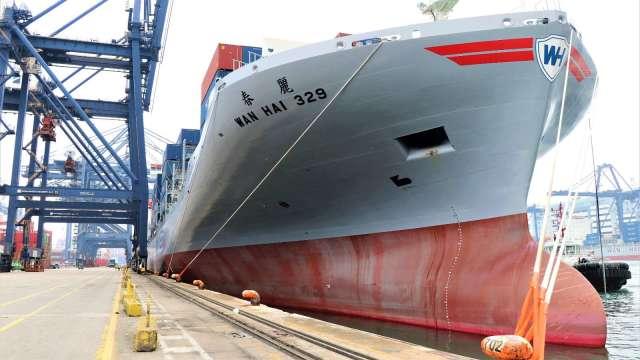 萬海看塞港問題恐延續至明年全年。(圖:萬海提供)