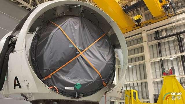 西門子歌美颯位於台中機艙組裝廠將供應沃旭大彰化東南及西南離岸風場風機。(鉅亨網記者林薏茹攝)