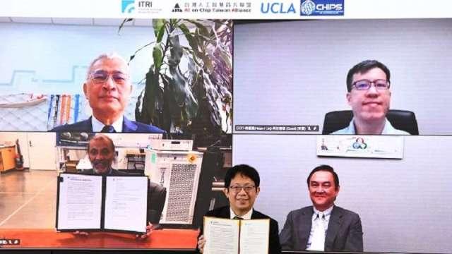 工研院與ATIA、UCLA CHIPS簽署異質整合先進封裝MOU。(圖:工研院提供)