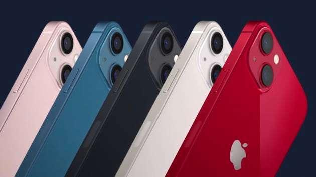 iPhone 13 和 iPhone 13 mini 有 5 款顏色可供選擇 (圖片:蘋果)