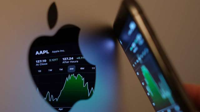 iPhone 13等新品陸續登場 蘋果股價不漲反跌收黑1% (圖片:AFP)