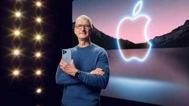 蘋果紅了 這兩檔5G ETF淨值頻創新高。(圖:AFP)