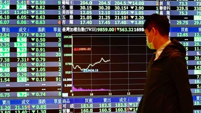 台股重摔350點 三大法人賣超426.81億元 外資狂倒貨大砍354億元。(圖:AFP)