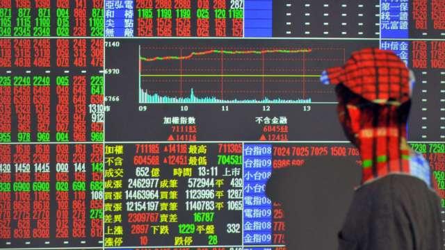 電金傳齊揚 台股漲152點收17078點 量縮上攻不易。(圖:AFP)
