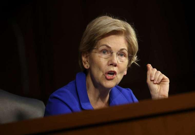 民主黨參議員華倫 (Elizabeth Warren) 公開反對美國總統拜登再度提名鮑爾擔任聯準會主席 (圖片:AFP)