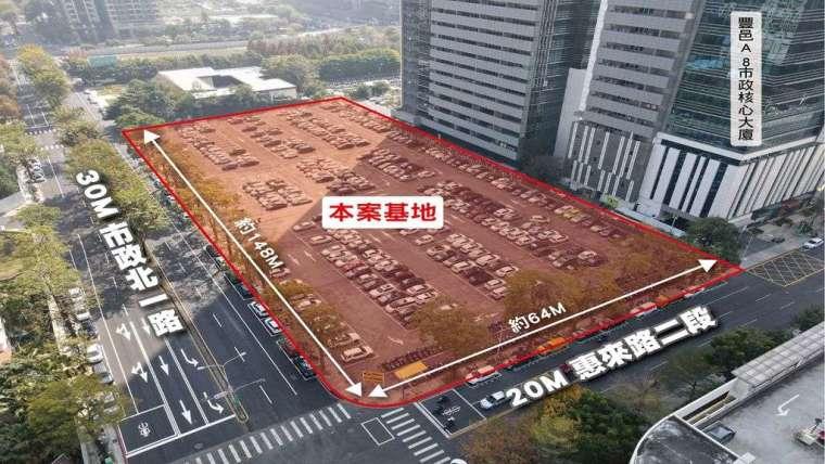 皇翔今天取得台中七期商用建地 2895 坪。(圖:商仲提供)