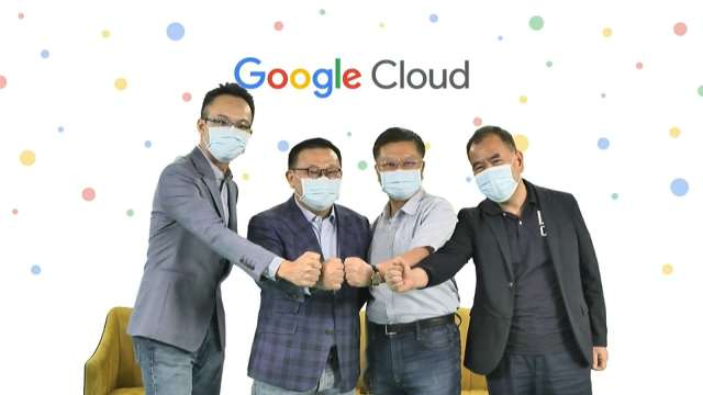 左起為 Google Cloud 客戶解決方案經理林書平、Google Cloud 台灣總經理謝良承、樺漢董事長朱復銓、樺漢總經理蔡能吉。(圖:Google Cloud提供))