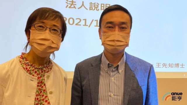 左為巨生醫總經理王先知、右為董事長蔣為峰。(鉅亨網記者沈筱禎攝)