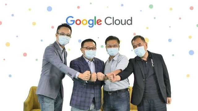 左起為Google Cloud 客戶解決方案經理林書平、Google Cloud 台灣總經理謝良承、樺漢董事長朱復銓、樺漢總經理蔡能吉。(圖:Google Cloud提供)
